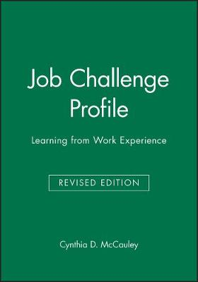 Job Challenge Profile: Learning from Work Experience