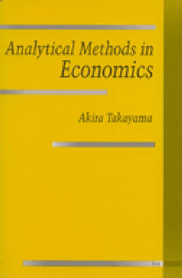Analytical Methods in Economics