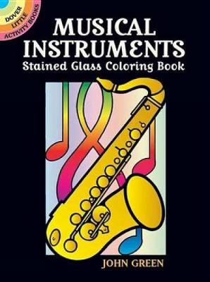 Musical Instruments Stained Glass Coloring Book