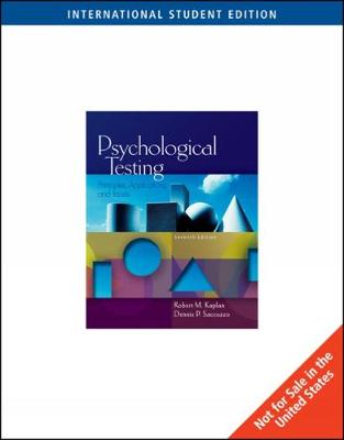 Psychological Testing: Principles, Applications, and Issues, International Edition