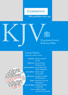 KJV Cameo Reference Edition Red Letter with Concordance and Dictionary, Burgundy Calfskin