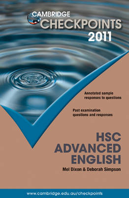 Cambridge Checkpoints HSC Advanced English 2011