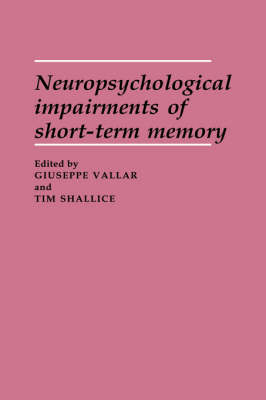Neuropsychological Impairments of Short-Term Memory