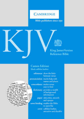 KJV Cameo Reference Edition with Concordance and Dictionary Black calfskin CD257
