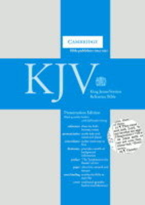 KJV Deluxe Presentation Reference Edition Black goatskin leather CD286