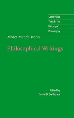 Moses Mendelssohn: Philosophical Writings