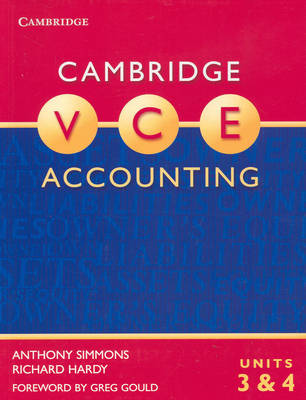 Cambridge VCE Accounting Units 3 and 4