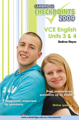 Cambridge Checkpoints VCE English Units 3 and 4 2009