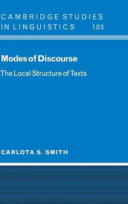 Modes of Discourse: The Local Structure of Texts