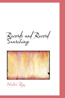 Records and Record Searching