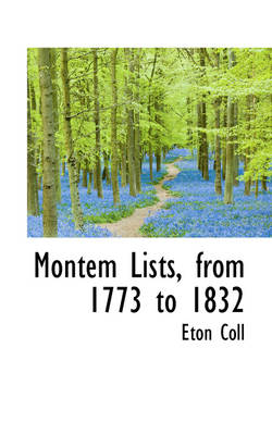 Montem Lists, from 1773 to 1832