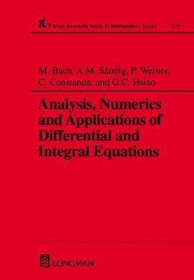 Analysis, Numerics and Applications of Differential and Integral Equations