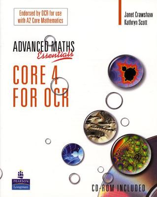 A Level Maths Essentials Core 4 for OCR Book and CD-ROM