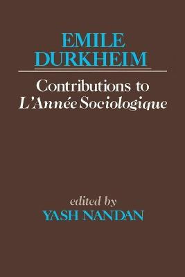 Contributions to L'Annee Sociologique