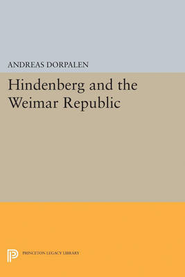 Hindenberg and the Weimar Republic