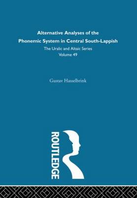 Alternative Analysis of the Phonemic System in Central South-Lappish