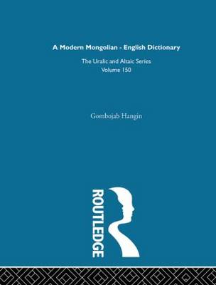 Modern Mongolian-English Dictionary