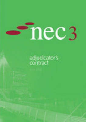 Nec3 Adjudicator's Contract