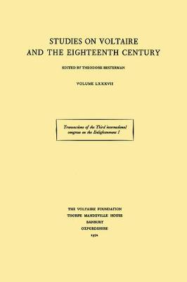 Transactions of the Third International Congress on the Enlightenment: Nancy 1971