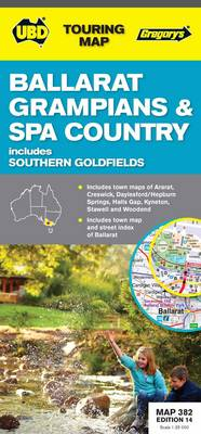 Ballarat, Grampians & Spa Country Map 382 14th ed