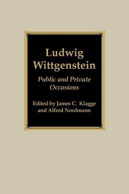 Ludwig Wittgenstein: Public and Private Occasions