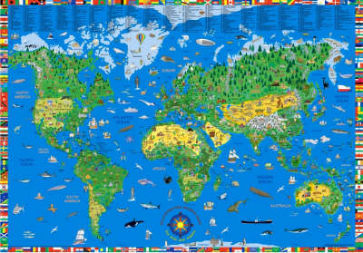 World map kids illustrated: KRU.EN.PP.W: 2012