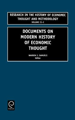 Documents on Modern History of Economic Thought