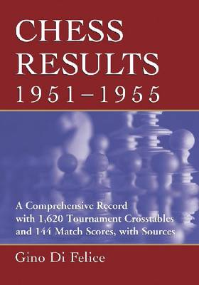 Chess Results, 1951-1955: A Comprehensive Record with 1,615 Crosstables and 143 Match Scores, with Sources