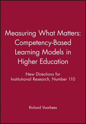 Measuring What Matters: Competency-based Learning Models in Higher Education