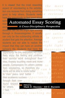 Automated Essay Scoring: A Cross Disciplinary Perspective