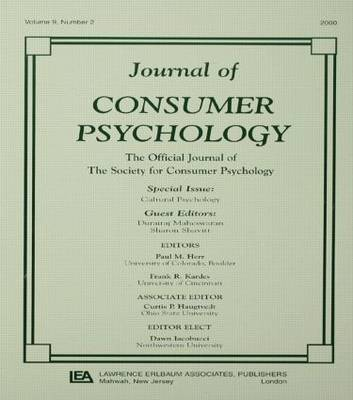 Cultural Psychology: A Special Issue of the journal of Consumer Psychology