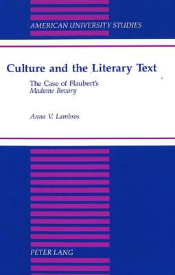 Culture and the Literary Text: The Case of Flaubert's Madame Bovary