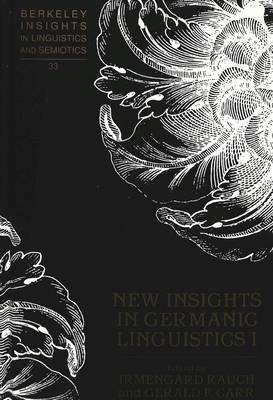 New Insights in Germanic Linguistics I