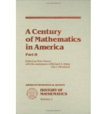 A Century of Mathematics in America, Part 2