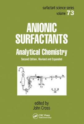 Anionic Surfactants: Analytical Chemistry