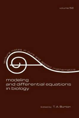 Modeling and Differential Equations in Biology