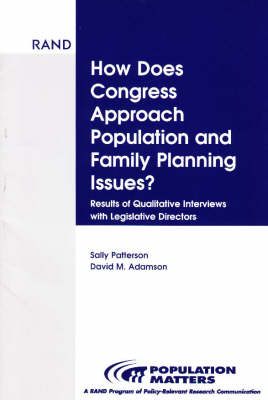 How Does Congress Approach Population and Family Planning Issues?