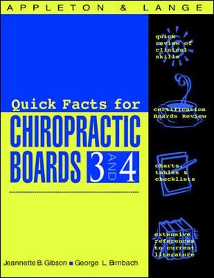 Appleton & Lange's Review for the Chiropractic Boards: Pt. 3 & 4