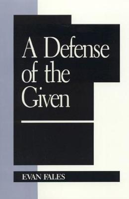 A Defense of the Given