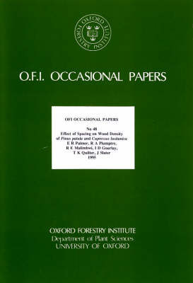 Effect of Spacing on Wood Density of Pinus Patula and Cupressus Lusitanica