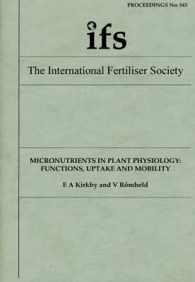 Micronutrients in Plant Physiology: Functions, Uptake and Mobility