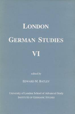 London German Studies: No. 6