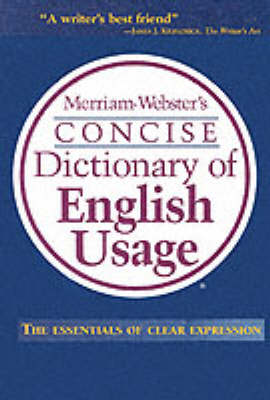 Merriam Webster's Concise Dictionary of English Usage