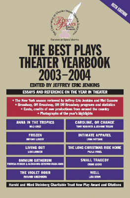 Best Plays Theater Yearbook: 2003-2004