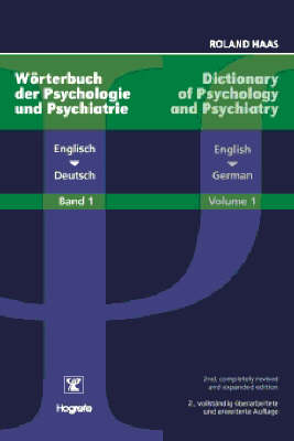 Dictionary of Psychology and Psychiatry: v. 1: English-German