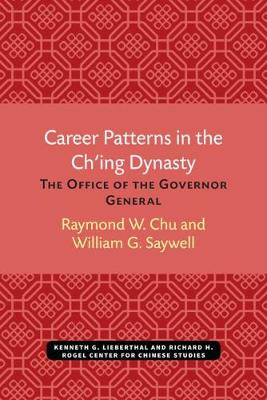 Career Patterns in the Ch'Ing Dynasty