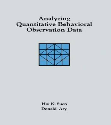 Analyzing Quantitative Behavioral Observation Data