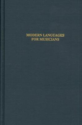 Modern Languages for Musicians