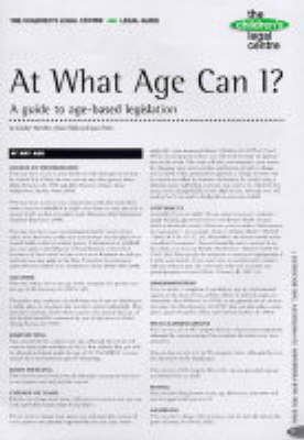 At What Age Can I?: A Guide to Age-based Legislation