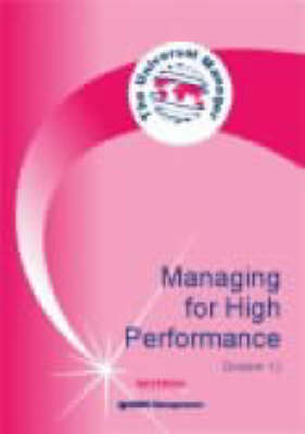 Managing for High Performance